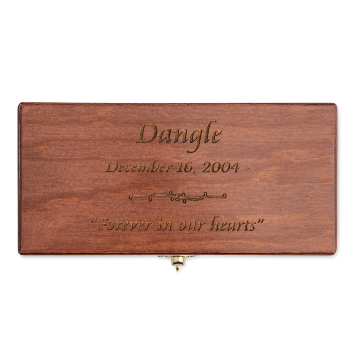 Hinged Pine Box Urn with Engraving