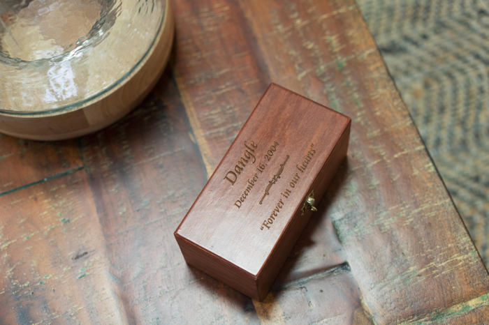 Hinged Pine Box with Engraving